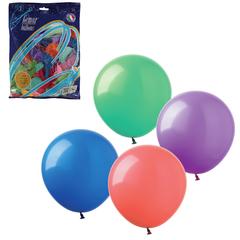 """Шары воздушные 12"""" (30 см), комплект 100 шт., 12 пастельных цветов, в пакете, 1101-0006"""