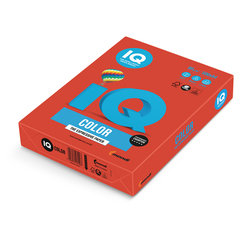 Бумага цветная IQ color, А4, 80 г/м2, 500 л., интенсив, кораллово-красная, CO44