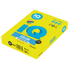 Бумага цветная IQ color, А4, 80 г/м2, 500 л., неон, желтая, NEOGB