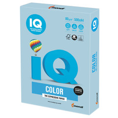 Бумага IQ color, А4, 80 г/м2, 500 л., пастель, голубой лед, OBL70