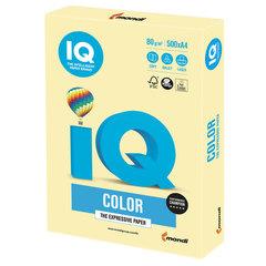 Бумага IQ color, А4, 80 г/м2, 500 л., пастель, желтая, YE23