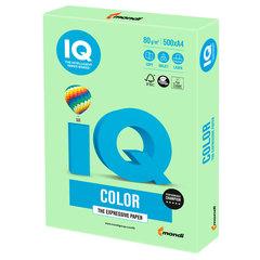 Бумага IQ color, А4, 80 г/м2, 500 л., пастель, зеленая, MG28