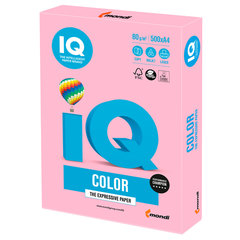 Бумага IQ color, А4, 80 г/м2, 500 л., пастель, розовый фламинго, OPI74