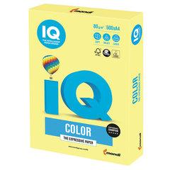 Бумага IQ color, А4, 80 г/м2, 500 л., умеренно-интенсив, лимонно-желтая, ZG34