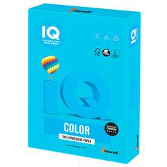 Бумага IQ color, А4, 160 г/м2, 250 л., интенсив светло-синяя, AB48