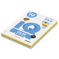 Бумага IQ color, А4, 160 г/м2, 100 л. (5 цв. x 20 л.), цветная интенсив, RB02