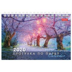 """Календарь-домик 2020 г, на гребне, 160х105 мм, горизонтальный, """"Прогулка по парку"""", HATBER,12КД6гр_16413"""