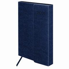 "Ежедневник датированный 2021 А5 (148х218 мм) GALANT ""Magnetic"", кожзам, клапан, синий, 111522"