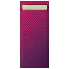 """Конверты бумажные для столовых приборов TORK """"Advanced"""" с кремовой салфеткой, 39х23 см, 100 шт., бордо, 474329"""