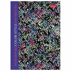 """Блокнот МАЛЫЙ ФОРМАТ (110х147 мм), А6, 160 л., твердая обложка, клетка, HATBER, """"Color texture"""", 160ББ6В1"""