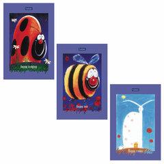 """Блокнот МАЛЫЙ ФОРМАТ (98х147 мм) А6, 40 л., склейка, ламинированная бумага, HATBER """"Premium"""", """"Animals"""", 40Б6лA1к"""