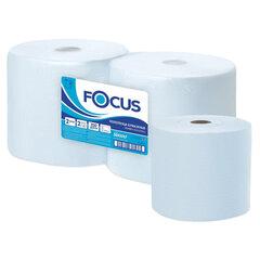Бумага протирочная FOCUS (Система W1) Jumbo, 2-слойная, КОМПЛЕКТ 2 рулона, 350 м, 1000 листов, лист 24х35, 5043342