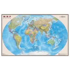 """Карта настенная """"Мир. Политическая карта"""", М-1:20 млн., размер 156х101 см, ламинированная, 634"""