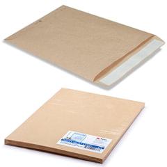 Конверт-пакеты С4 плоские (229х324 мм), до 90 листов, крафт-бумага, отрывная полоса, КОМПЛЕКТ 25 шт., 161150.25