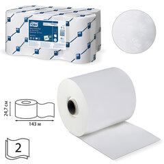Полотенца бумажные рулонные TORK (Система H13), комплект 6 шт., 143 м, 2-х слойные, белые, 471110