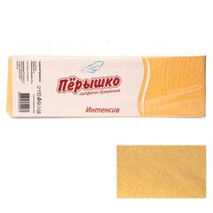 "Салфетки бумажные, 400 шт., 24х24 см, ""Перышко"" Big Pack, желтые интенсив, сырье Италия, 125254"
