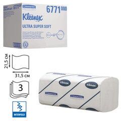 Полотенца бумажные 96 шт., KIMBERLY-CLARK Kleenex, КОМПЛЕКТ 30 шт., Ultra, 3-слойные, белые, 31,5х21,5 см, Interfold (601533-534)6771