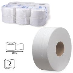 Бумага туалетная 200 м, KIMBERLY-CLARK Scott, КОМПЛЕКТ 12 шт., Performance Jumbo, 2-х слойная, белая, диспенсер 601544