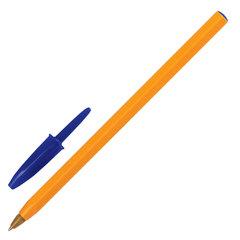 """Ручка шариковая BIC """"Orange"""", СИНЯЯ, корпус оранжевый, узел 0,8 мм, линия письма 0,3 мм"""
