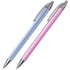 """Ручка шариковая автоматическая BRAUBERG """"Sakura"""", корпус ассорти, узел 0,5 мм, линия письма 0,35 мм"""