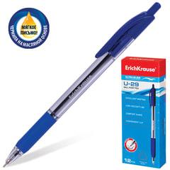 """Ручка шариковая масляная автоматическая ERICH KRAUSE """"Ultra Glide U-29"""", узел 0,6 мм, линия 0,32 мм, синяя"""