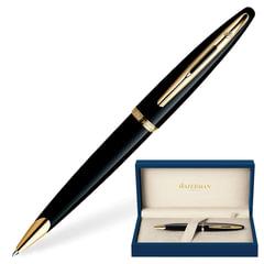 """Ручка подарочная шариковая WATERMAN """"Carene Black Sea GT"""", черный лак, позолоченные детали, синяя, S0700380"""