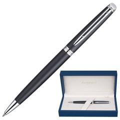 """Ручка подарочная шариковая WATERMAN """"Hemisphere Matt Black CT"""", черный матовый лак, хромированные детали, синяя, S0920870"""