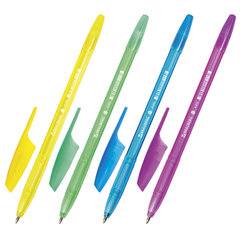 """Ручка шариковая BRAUBERG """"X-333"""" NEON, СИНЯЯ, корпус тонированный ассорти, узел 0,7 мм, линия письма 0,35 мм"""