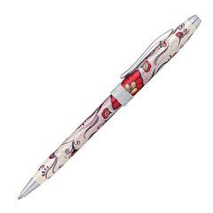 """Ручка подарочная шариковая CROSS Botanica """"Красная колибри"""", лак, латунь, хром, черная, AT0642-3"""