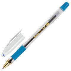 """Ручка шариковая масляная с грипом BRAUBERG """"Model-XL GLD"""", СИНЯЯ, узел 0,5 мм, линия письма 0,25 мм, 143245"""