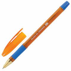 Ручка шариковая масляная с грипом BRAUBERG Model-XL ORANGE, СИНЯЯ, узел 0,7 мм, линия 0,35 мм, 143246