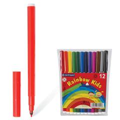 """Фломастеры 12 ЦВЕТОВ CENTROPEN """"Rainbow Kids"""", круглые, смываемые, вентилируемый колпачок, 7550/12ET"""