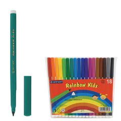 """Фломастеры 18 ЦВЕТОВ CENTROPEN """"Rainbow Kids"""", круглые, смываемые, вентилируемый колпачок, 7550/18ET"""