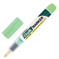 """Маркер меловой MUNHWA """"Chalk Marker"""", 3 мм, ЗЕЛЕНЫЙ, сухостираемый, для гладких поверхностей"""