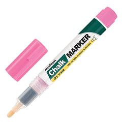 """Маркер меловой MUNHWA """"Chalk Marker"""", 3 мм, РОЗОВЫЙ, сухостираемый, для гладких поверхностей"""