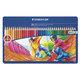 """Карандаши цветные STAEDTLER (Германия) """"Noris club"""", 36 цветов, заточенные, металлический пенал, 145 SPM36"""