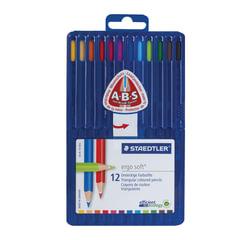 """Карандаши цветные STAEDTLER ПРЕМИУМ """"Ergosoft"""", 12 цветов, трехгранные, пластиковый футляр, 157 SB12"""