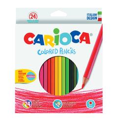 Карандаши цветные CARIOCA, 24 цвета, шестигранные, заточенные, европодвес
