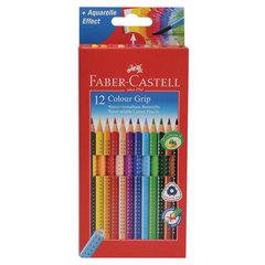 "Карандаши цветные FABER-CASTELL ""Grip"", 12 цветов, трехгранные, 112412"