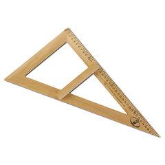 Треугольник для классной доски (треугольник классный), деревянный, 60х30х40 см, прямоугольный, С364