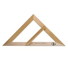 Треугольник для классной доски (треугольник классный), деревянный, 45х45х90 градусов, равнобедренный, без шкалы, С370
