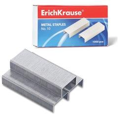 Скобы для степлера ERICH KRAUSE № 10, 1000 штук, в картонной коробке, до 20 листов