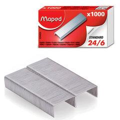 Скобы для степлера №24/6, 1000 штук, MAPED (Франция), до 20 листов