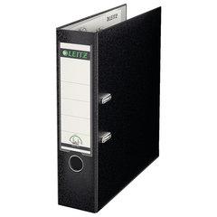 Папка-регистратор LEITZ, механизм 180°, покрытие пластик, 80 мм, черная, 10101295