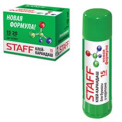 Клей-карандаш STAFF, 15 г, новая формула, Россия
