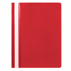 Скоросшиватель пластиковый STAFF, А4, 100/120 мкм, красный, 225729