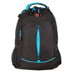 Рюкзак WENGER, универсальный, черный, бирюзовые вставки, 22 л, 32х15х46 см