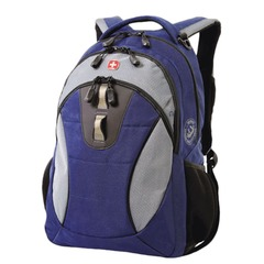 Рюкзак WENGER, универсальный, сине-серый, 22 л, 32х15х46 см