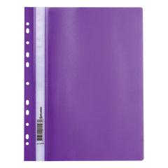 Скоросшиватель пластиковый с перфорацией BRAUBERG, А4, 140/180 мкм, фиолетовый, 226584