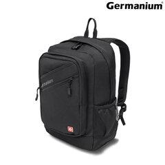 """Рюкзак GERMANIUM """"S-09"""" универсальный, с отделением для ноутбука, уплотненная спинка, черный, 44х30х14 см, 226956"""